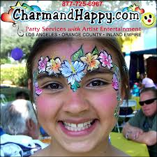 see pic summer flowers face painting