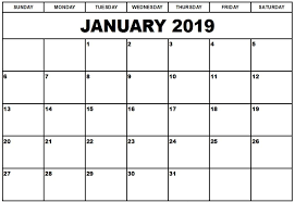 Calendar Template For Word January 2019 Calendar Template Word 250 January 2019 Calendar