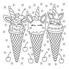 They all have an ice cream theme and would be a great activity for an ice cream party. Coloring Pages Ice Cream Coloring Pages Pieces Download And Print For Free Wonder Day