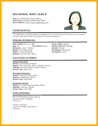 19 Example Of Resume To Apply Job Leave Latter