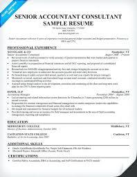 Senior Accountant Resume Chief Accountant Resume Sample Senior Accountant Resume Resume