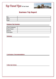Business Trip Report Template| Business Travel | Top-Travel-Tips.com