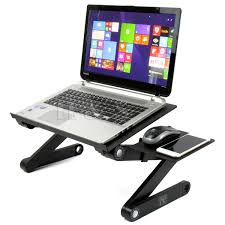 h s portable adjule laptop computer notebook desk stand table folding lap tray for bed couch co uk computers accessories