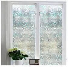 window 3d stained glass privacy mini mosaic screen sticker static cling