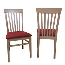 Esszimmerstuhl Set Aus Buche Massivholz Rot Webstoff 2er Set