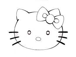 Hello Kitty Da Colorare Per Bambini Con Carnevale Maschere Da