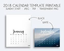 modern printable calendar 2018 printable 2018 calendar