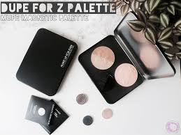 mufe empty magnetic palette review possible dupe for z palette