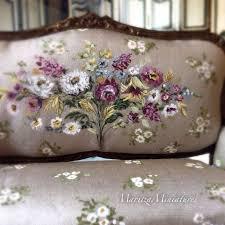 miniature dollhouse furniture for sale. painted miniature silk settee by maritzaminiatures dollhouse furniture for sale l