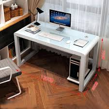 simple modern computer table tempered glass desk desktop home writing ailey gl