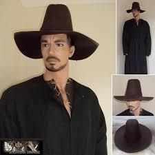 heavy leather renaissance period wide brim high top hat 5074 p jpg