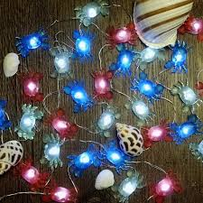 Decorative String Lights Amazon Impress Life Marina Theme Christmas Decorative String Lights Fairy Big Crab Battery Powered Flexible Wire 10 Ft 30 Leds With Dimmable Wireless