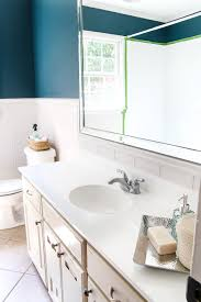 diy painted bathroom sink countertop blesserhouse com an 80s beige cultured marble sink