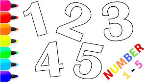 Come and have fun with printable activities to learn numbers and early math concepts. Number Coloring For Kids Learn Colors Learn Numbers 1 5 Part 1 Youtube