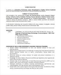 Resume Templates Lab Technician Resumetemplates Job