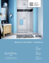 mondeau s reveal 75 pivot door by maax with unique patent hinge technology beauty is in