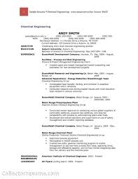 Resume Objective Examples Chemical Engineering Resume Idea