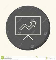 A Stand With A Growth Chart A Circular Linear Icon With An