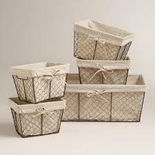Chicken Wire Storage Baskets Available: COST PLUS WORLD MARKETS:  dimensions: Small: 9