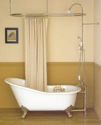 split shower curtain ideas. Freestanding Tub Filler And Curtain Rod Split Shower Ideas T