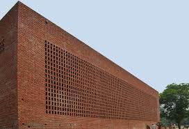 Perforated Brick Wall Design Automated Warehouse In New Delhi Uncube