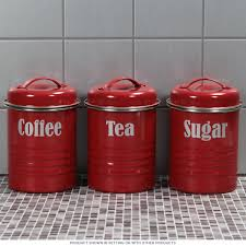 assorted tea coffee sugar kitchen canister set red retro kitchen counter canisters canister sets in canisters