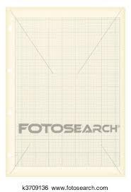 Grunge A4 Graph Paper Clip Art K3709136 Fotosearch