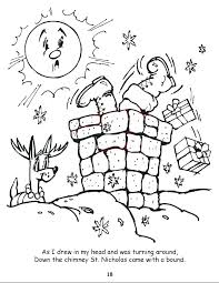 Night Before Christmas Coloring Pages Nightmare Before Coloring Page