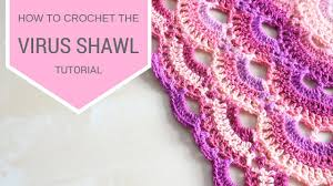 Virus Shawl Crochet Pattern Impressive CROCHET How To Crochet The Virus Shawl Bella Coco YouTube