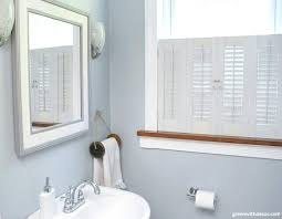 Krypton Blue Bathroom With White And Wood Window Trim, A White And Blue  Farmed Wood