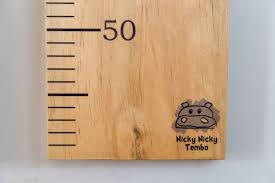 Wooden Height Chart Personalised Felt