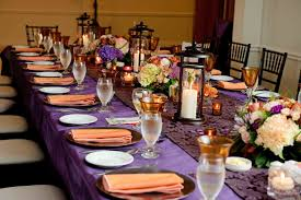 ... Fetching Images Of Purple Table Setting Decoration Design Ideas :  Endearing Image Of Purple Wedding Design ...