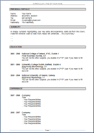 Cv Resume Format Download Resume And Cover Letter Resume And
