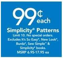 Simplicity Patterns On Sale Cool JoAnn Fabrics Simplicity Patterns 4848 Coupon Cutting Mom