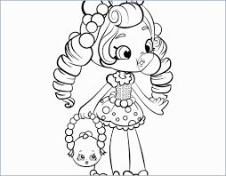 Barbie Doll Coloring Pages For Kids With Barbie Shopkins Coloring