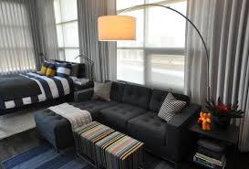 apartment studio furniture. Apartment:Unusual Studio Apartment Furniture For Small Space With L Shape Dark Grey Bed Sofa T