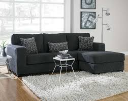 Furniture: Cool Apartment Living Room Featuring L-shaped Leather Sofa  Furniture With Accent Red