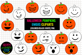 Or click this link to download svg. Halloween Pumpkins Emojis Cliparts Graphic By Happy Printables Club Creative Fabrica