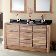 60 Bathroom Cabinet 60 Venica Teak Double Vanity For Undermount Sinks Whitewash