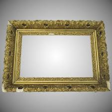 19th century gilt frame restoration re purpose fancy black tulip antiques ltd ruby lane
