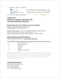 Sample Federal Resume Ksa Sample Of Federal Resume Wikirian Com