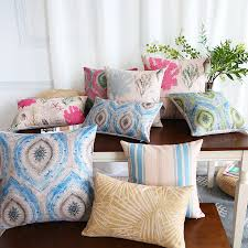 nordic style striped throw pillows for grey sofa linen decorative cushions home decor demo showing