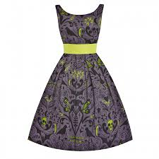 'Lana' <b>Gothic Print</b> 1950's Style Party Dress | Vintage inspired ...