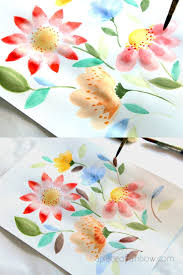 paint beautiful watercolor flowers in