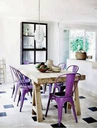 the simple style of metal seating is one of the hottest trends in dining room
