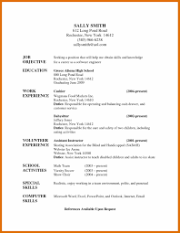 5 6 Babysitting Resume Sowtemplate