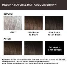 Hair Color Chart For Black Hair Messina Natural Hair Colour Cream Brown