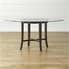 48 inch round glass table top halo ebony round dining table with glass top crate and