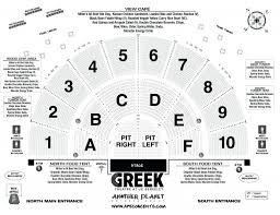 Greek Seating Chart Detailed The Awesome And Also Interesting Hollywood Bowl Seating