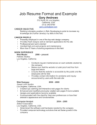 Simple Job Resume Format Examples Of Work Resumes Examples Resumes 24 Example Job Resume 8